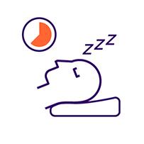Icon illustrating sleep
