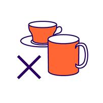 Icon illustrating avoidance of caffeine